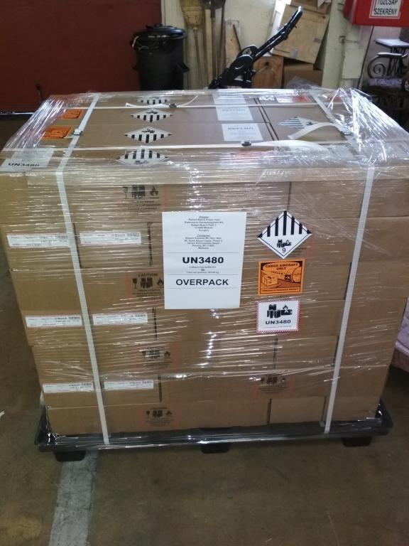 Veszélyes áru - Akkumulátor csomagolás