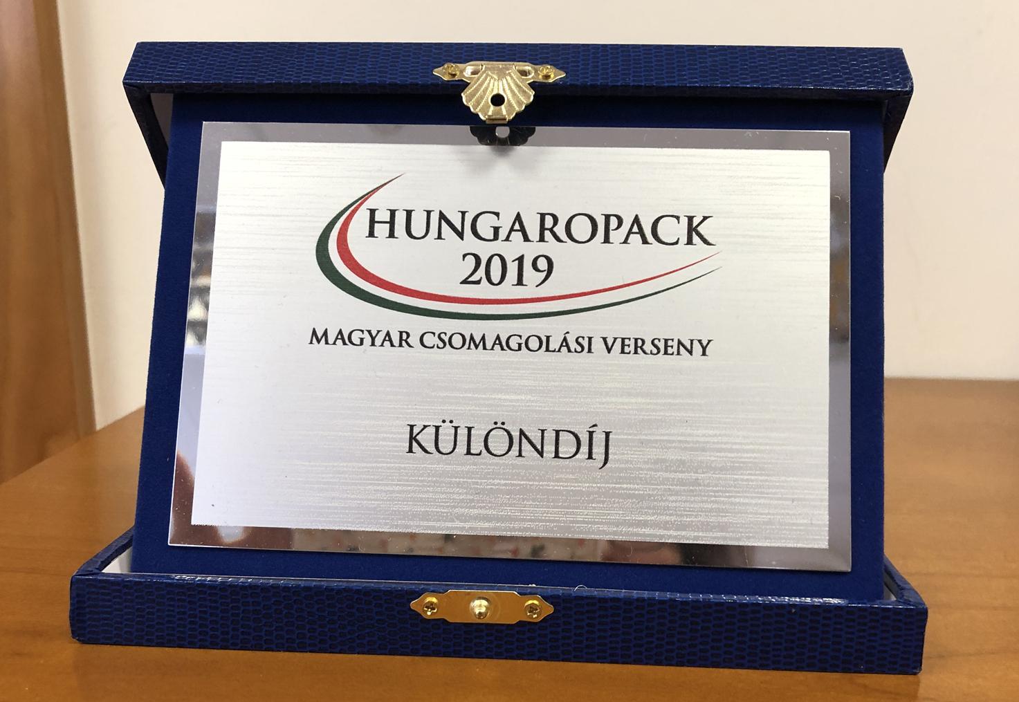 Különdíjat nyertünk a Hungaropack versenyen!